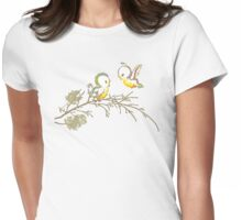 Bluebirds of Happiness Womens Fitted T-Shirt