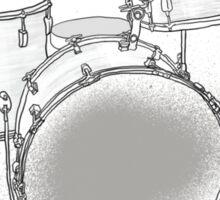 drums BW Sticker