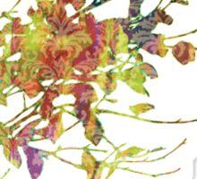 Leafy Damask Shadows Sticker