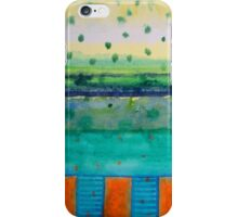 Orange Posts With Landscape iPhone Case/Skin