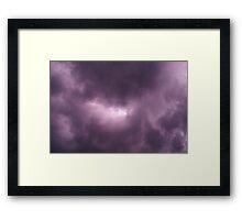 Break in the Clouds Framed Print