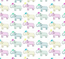 Colourful Elephants by eng-rose-gifts