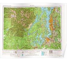 USGS Topo Map Washington State WA Seattle 243645 1958 250000 Poster