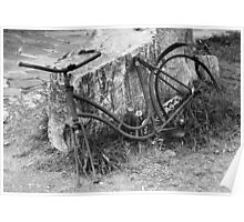 Old rusty bike. Poster