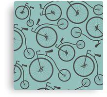 Vintage Retro Bicycle background Canvas Print