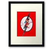 The Flash Comic Strip Logo Framed Print