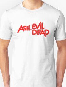 ASH VS EVIL DEAD TITLE Red Unisex T-Shirt