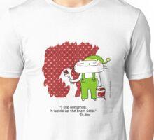 'I like nonsense... Dr.Seuss quote / Cat doodle Unisex T-Shirt