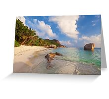 Anse Source D'Argent Greeting Card