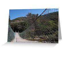 Jungle Bridge - Puente En La Selva Greeting Card
