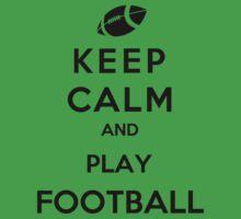 Keep Calm And Play Football One Piece - Short Sleeve