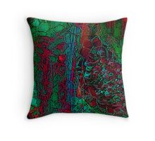 Red Cells Throw Pillow