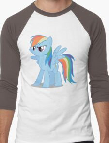 Rainbow Dash stance Men's Baseball ¾ T-Shirt
