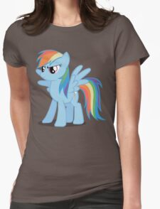 Rainbow Dash stance Womens Fitted T-Shirt