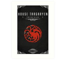 House Targaryen Art Print