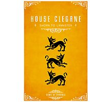 House Clegane Photographic Print