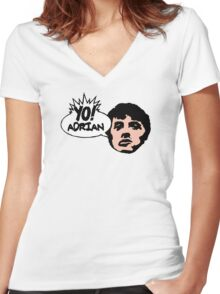 Yo! Adrian Raps Women's Fitted V-Neck T-Shirt