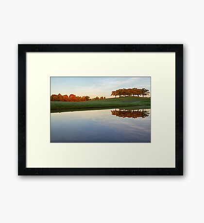 Autumn landscape. Framed Print