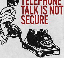 Telephone Talk poster by copywriter