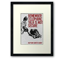 Telephone Talk poster Framed Print