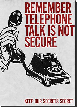 Telephone Talk poster by copywriter