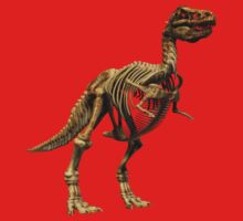 Dinosaur skeleton tee and phone case Kids Clothes