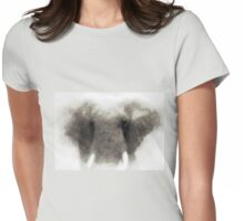 Elephant portrait Womens Fitted T-Shirt