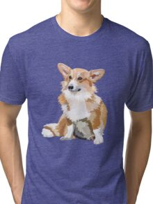Corgi Vector Tri-blend T-Shirt