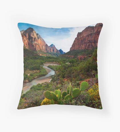 Zionese Cactus Throw Pillow