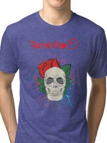 Colourful Skull  Tri-blend T-Shirt