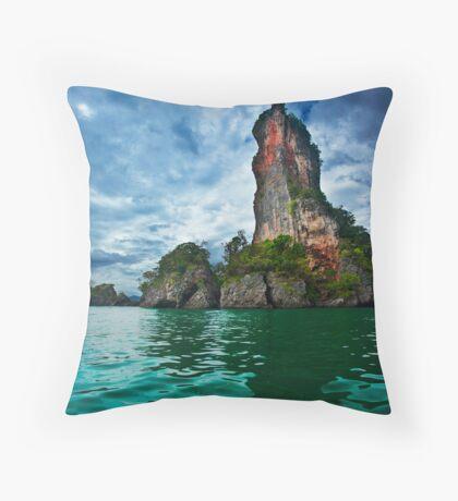 Jagged Little Island Throw Pillow