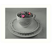 I Heart Cupcakes Art Print