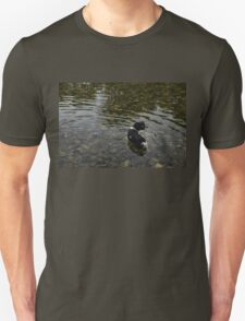 Crystal Clear Water Play - Cute Puppy In The River T-Shirt