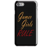 Gamer Girls RULE iPhone Case/Skin