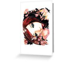 Sleeping flower Greeting Card