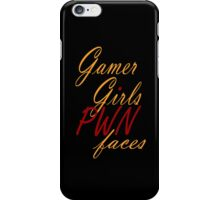 Gamer Girls PWN faces iPhone Case/Skin