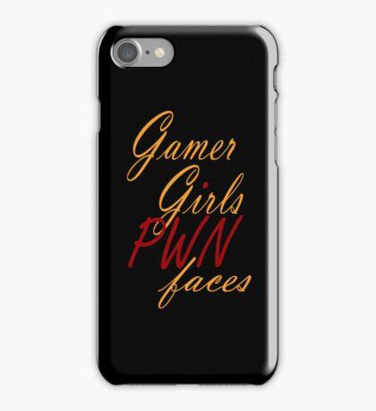 Gamer Girls PWN faces iPhone Case/Skin