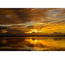 Golden Day. (sunrise ) Photographic Print