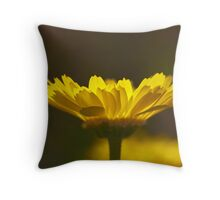 Yellow Lumen Throw Pillow