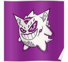 Gengar Pokemuerto | Pokemon & Day of The Dead Mashup Poster