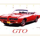 1969 Pontiac GTO Convertible ver 4 by brianrolandart