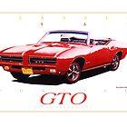 1969 Pontiac GTO Convertible ver 4 by brianrolandart