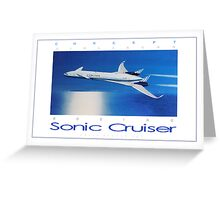 Boeing Sonic Cruiser Concept Aircraft ver 2 Greeting Card