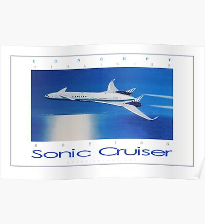 Boeing Sonic Cruiser Concept Aircraft ver 2 Poster