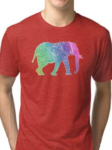 Zentangle Elephant Tri-blend T-Shirt