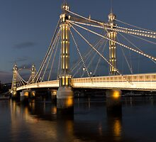 Albert Bridge London evening image by DavidHornchurch