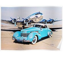 Two Classics  Boeing 307 & Cord 810  Poster