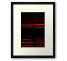 Blinds Lined Red Framed Print