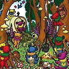 Grateful Dead Dancing Bears - Teddy Bear Picnic by Littledasypus