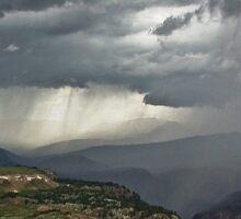 High Mountain Storm Sticker